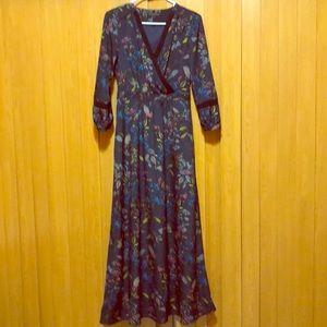 Banana Republic Long Sleeve Floral Maxi Dress